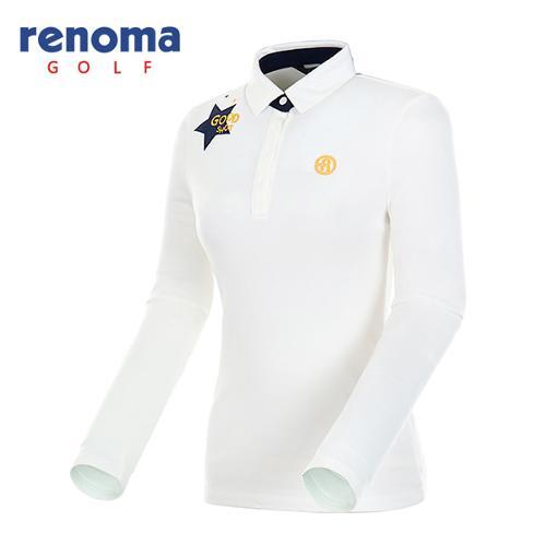 [레노마골프]여성 소프트 터치 기모 티셔츠 RWTYF8104-101
