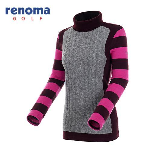 [레노마골프]여성 스트라이프 슬리브 티셔츠 RATS89561-WI