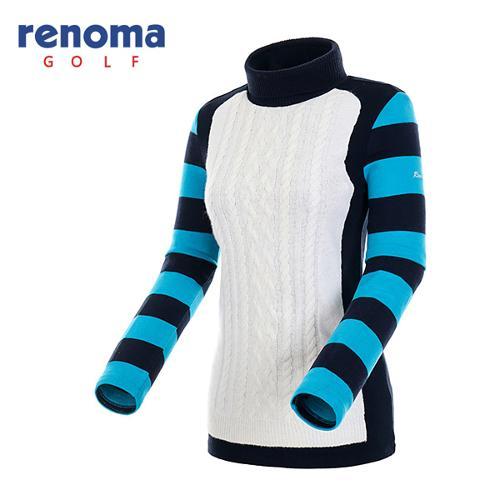 [레노마골프]여성 스트라이프 슬리브 티셔츠 RATS89561-NY