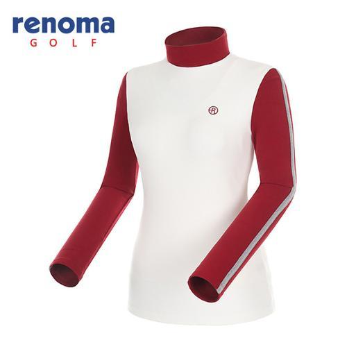 [레노마골프]여성 소프트 터치 컬러블록 하프넥 티셔츠 RATS71561-OW