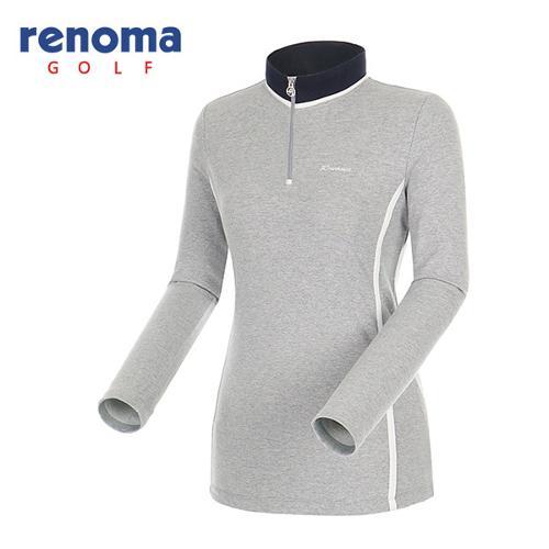 [레노마골프]여성 테이프 스트라이프 반집업 티셔츠 RATS65541-MG