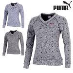 푸마 FW 여성 V넥 긴팔 스웨터 923470 골프웨어 필드웨어 골프의류 PUMA