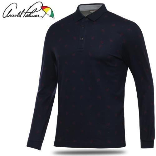 [아놀드파마] 페이즐리 패턴 남성 카라넥 긴팔티셔츠/골프웨어_239725