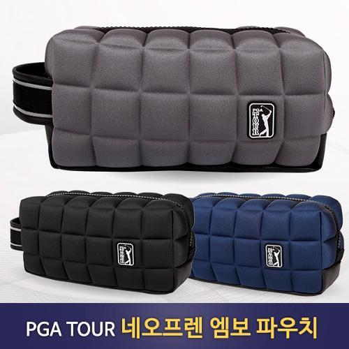 [PGA TOUR] 공식 라이센스 네오프렌 엠보 골프 파우치