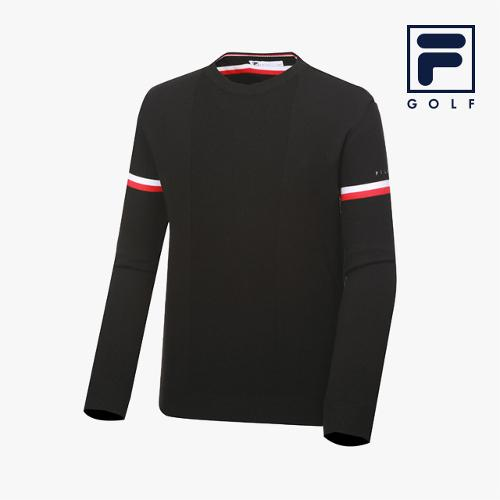 [FILA GOLF] 남성 라운드넥 스웨터_FG2STA3701M-BLK_GA