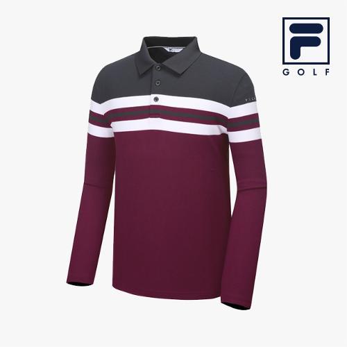 [FILA GOLF] 남성 컬러블럭배색 YGIT 긴팔티셔츠_FG2TLA3706M-PLM_GA