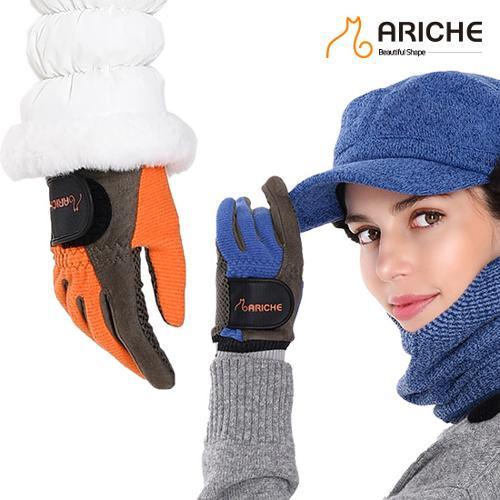 [아리체]여성용 스웨이드 합성실리콘 겨울양손장갑
