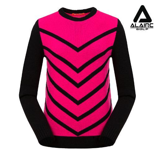 [알레어 골프] 여성 브이 패턴 배색 니트(AFB4SP351-HPK)