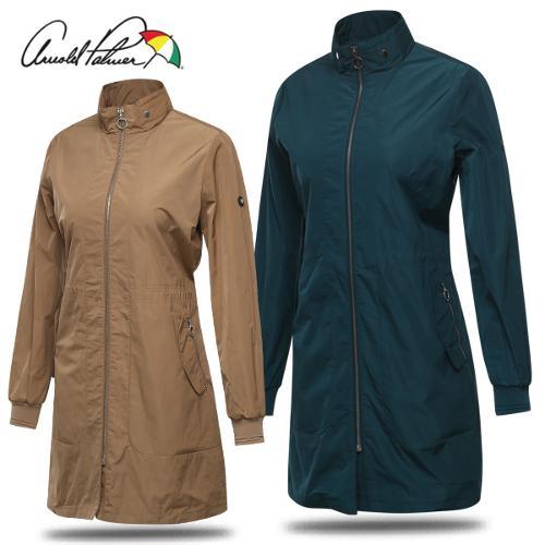 [아놀드파마] 허리스트링 포켓지퍼 여성 롱 바람막이 자켓/골프웨어_242140