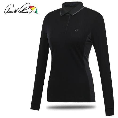 [아놀드파마] 폴리스판 카라넥 패턴 디테일 여성 긴팔티셔츠/골프웨어_240894
