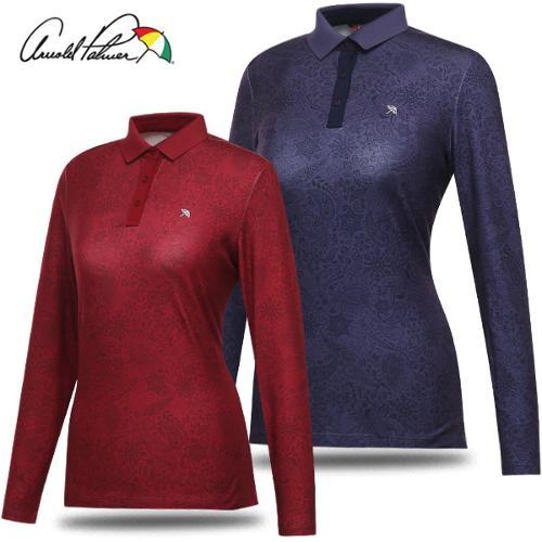 [아놀드파마] 폴리스판 클래식 패턴 여성 카라넥 긴팔티셔츠/골프웨어_240892
