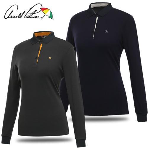 [아놀드파마] 카라넥 그래픽 패턴 여성 긴팔티셔츠/골프웨어_240852