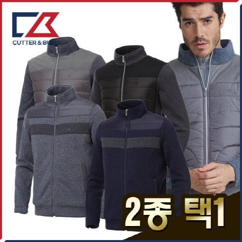 커터앤벅 남성 풀집업 카치온 니트소재 패딩 방풍 점퍼/자켓 2종 택1