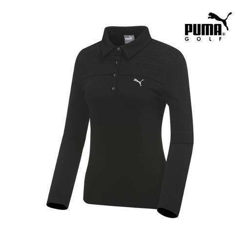 [푸마골프] 여성 퀼팅 카라넥 티셔츠 898531-01_GA