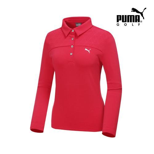 [푸마골프] 여성 퀼팅 카라넥 티셔츠 898531-02_GA