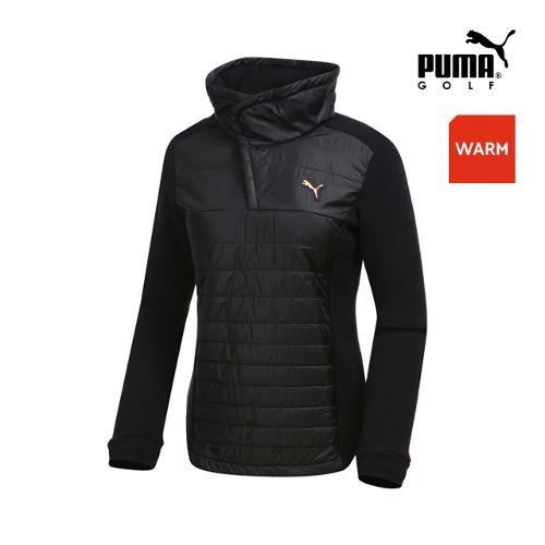 [푸마골프] 여성 패딩 하이브리드 집업 티셔츠 898536-01_GA