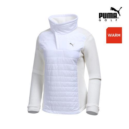 [푸마골프] 여성 패딩 하이브리드 집업 티셔츠 898536-02_GA