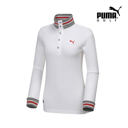 [푸마골프] 여성 니트 넥 포인트 긴팔 티셔츠 898538-02_GA