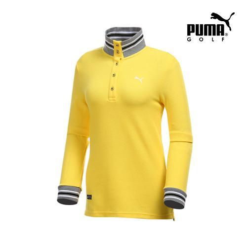 [푸마골프] 여성 니트 넥 포인트 긴팔 티셔츠 898538-03_GA