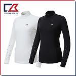 커터앤벅 여성 스판 소매 별프린트 목폴라 기능성티셔츠 - PB-11-184-201-01