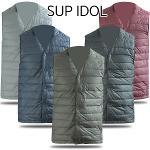 [SUP IDOL] V넥 초경량 오리털 남성 바람막이 패딩 조끼/골프웨어_242328
