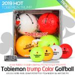 (19 HOT) 토비에몬 트럼프 4가지 칼러 골프볼(2팩8알)