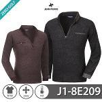 [JEAN PIERRE]쟌피엘 애리체크 기모 티셔츠 Model No_J1-8E209