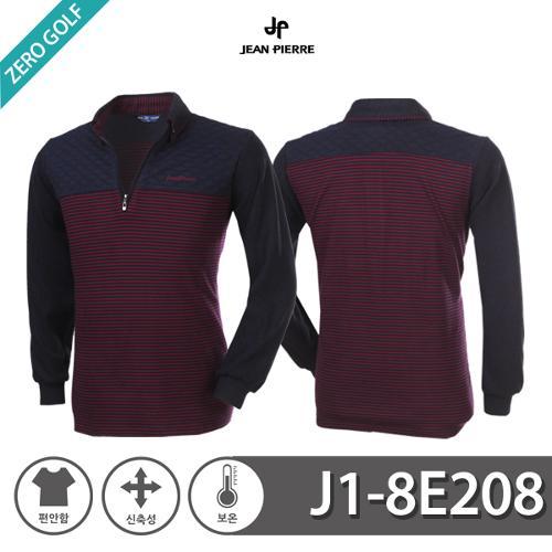 [JEAN PIERRE]쟌피엘 하프패턴 기모 카라티셔츠 Model No_J1-8E208