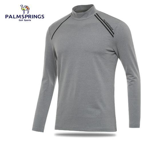 [팜스프링스] 어깨 사선 라인 남성 하프넥 긴팔이너웨어/티셔츠/골프웨어_241828