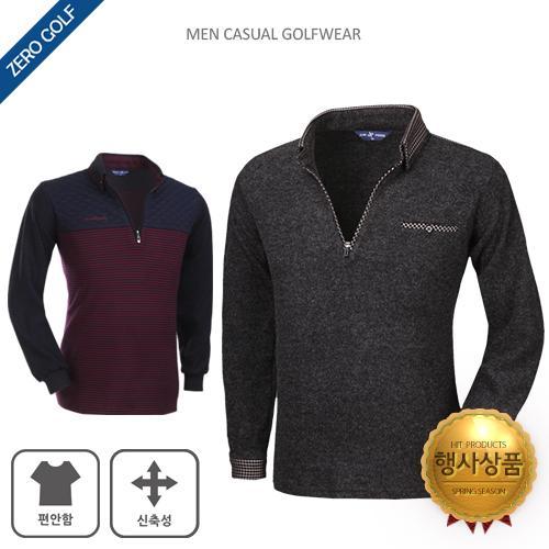 [쟌피엘] 추운 날씨에도 입을 수 있는 기모 카라티셔츠 2종 택일