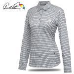 [아놀드파마] 미니 단풍 체크 여성 카라넥 셔츠형 긴팔티셔츠/골프웨어_242424