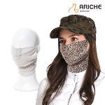 [아리체]여성 레오파드 양면 마스크/겨울마스크/방한용품/골프/스키/등산