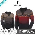 [GOLF CLUB] 골프클럽 배색 포인트 하프집업 니트 Model No_I1-8W070