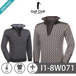 [GOLF CLUB] 골프클럽 바둑패턴 하프집업 니트 Model No_I1-8W071