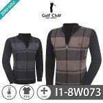 [GOLF CLUB] 골프클럽 빅체크 하프집업 니트 Model No_I1-8W073