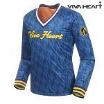 [비바하트] 남성 로고 패턴 브이넥 티셔츠 (R6DWB0110-N1)