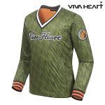 [비바하트] 남성 로고 패턴 브이넥 티셔츠 (R6DWB0110-K1)