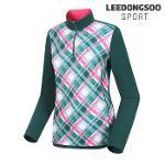 [이동수스포츠] 여성 패턴프린트 반집업 티셔츠 (F6DTS0040-G1)