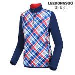 [이동수스포츠] 여성 패턴프린트 반집업 티셔츠 (F6DTS0040-N1)