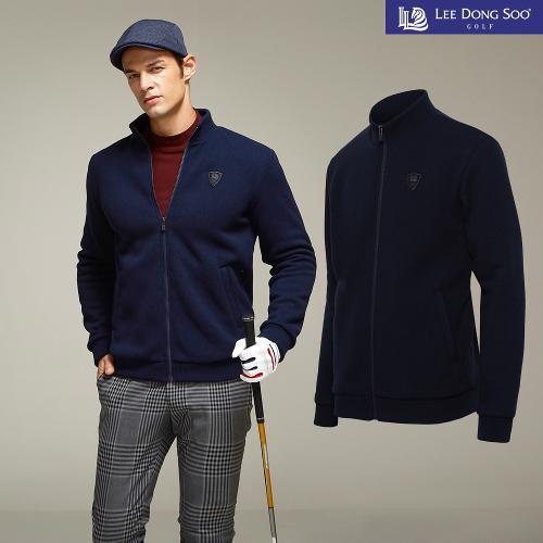 [이동수] 남성 골프 니트 스웻 자켓 네이비