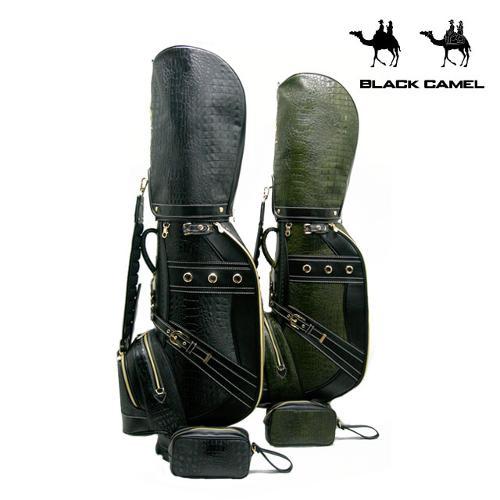 블랙캐멀 악어무늬원단 남성 캐디백 BC-100 (파우치 포함)