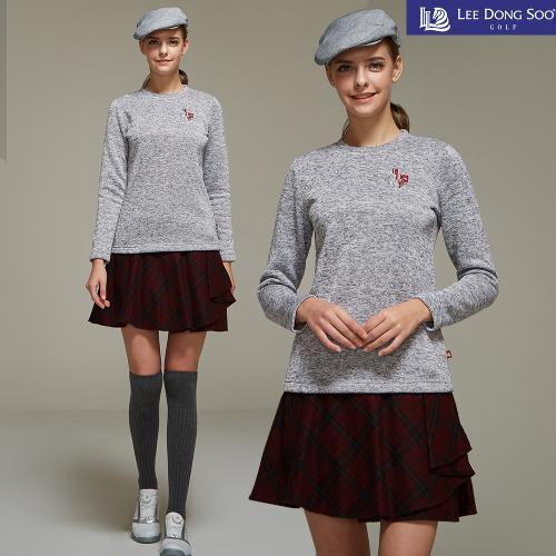 [이동수] 여성 골프 니트 티셔츠 멜란지그레이
