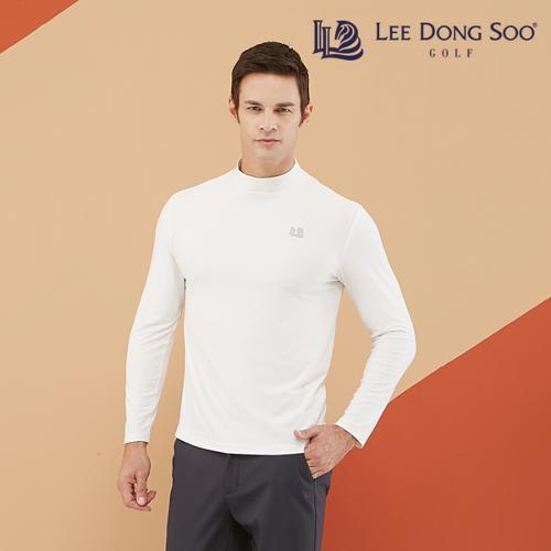 [이동수] 남성 기모 하이넥 티셔츠 화이트
