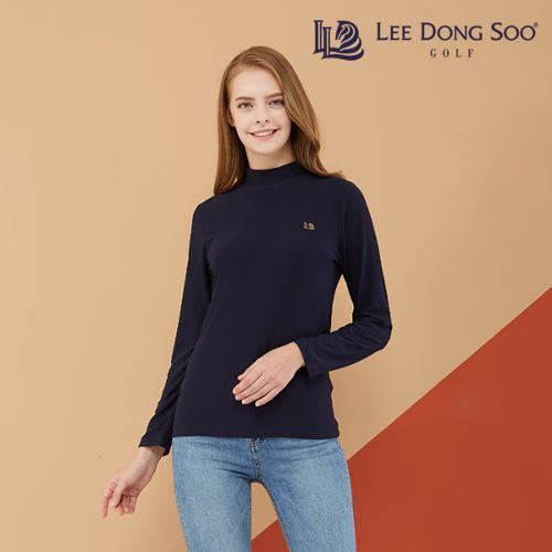 [이동수] 여성 기모 하이넥 티셔츠 네이비