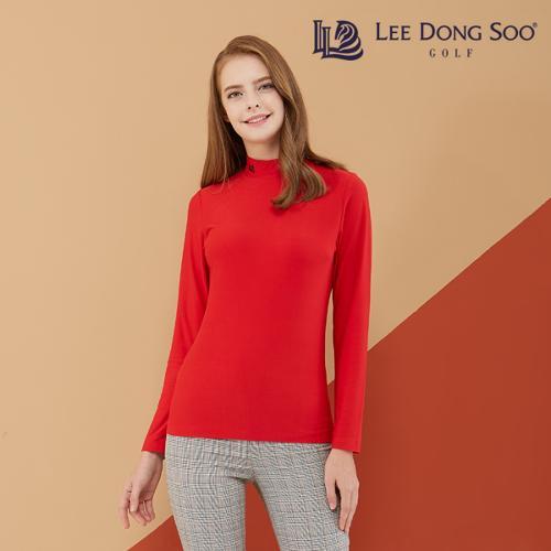 [이동수] 여성 기모 하이넥 티셔츠 레드
