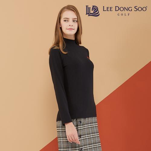 [이동수] 여성 기모 하이넥 티셔츠 블랙