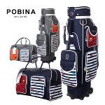[2019년신제품-국내산]포비나 골프 C-PB7019 폴리에스터원단 핸드케리어 캐디백 보스톤백세트+파우치백