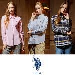 [USPA] 순면 옥스포드 여성 카라넥 긴팔 셔츠 3종 택1/골프웨어_243010