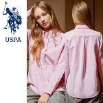 [USPA] 순면 베이직 옥스포드 여성 카라넥 긴팔 셔츠/골프웨어_243007