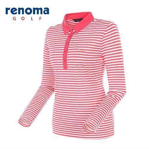 [레노마골프]여성 스트라이프 프린트 티셔츠 RATS5B511-CO